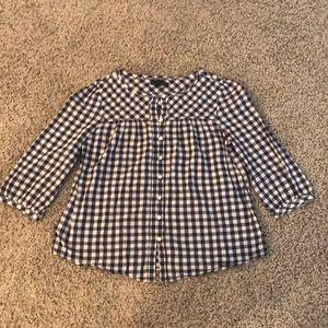 Navy Blue Plaid GAP Shirt